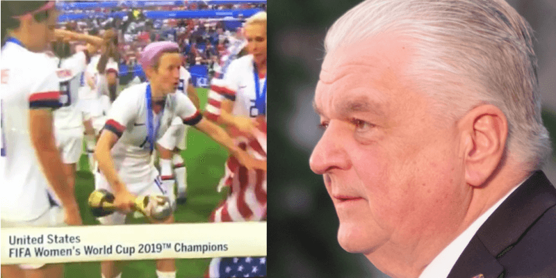 Right After Dropping US Flag On The Ground, Gov. Sisolak Gave The American Women's Team A Sweet Surprise